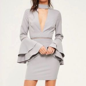 Missguided flared sleeve dress